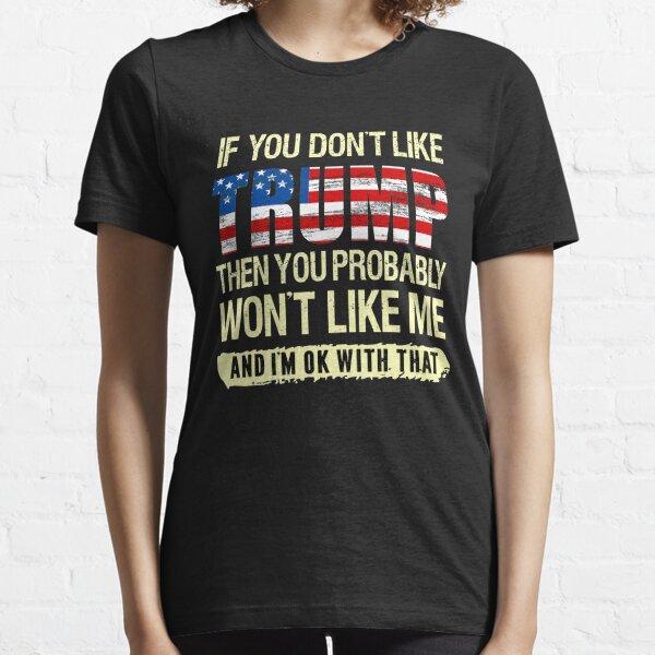 donald trump funny pro trump liberal party political trump supporter anti biden harris retro trump 2020 Essential T-Shirt