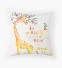 See Yourself When All is New Throw Pillow