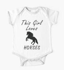 This girl loves horses Kurzärmeliger Einteiler