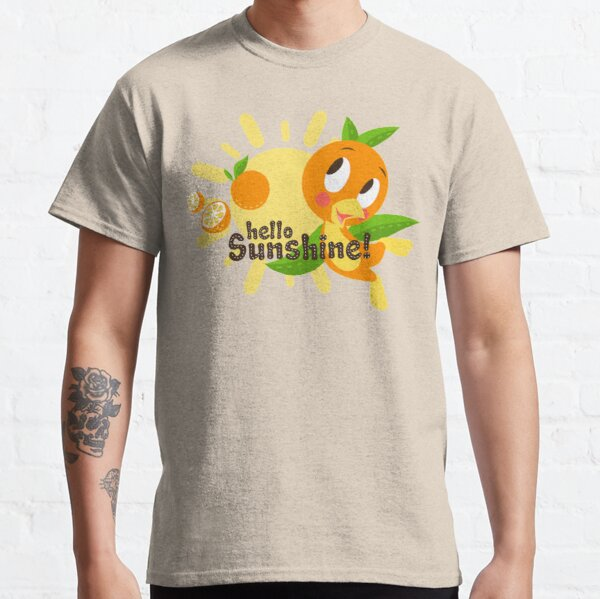 Hello Sunshine! - Orange Bird (white background) Classic T-Shirt