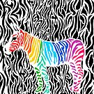 Rainbow Color Zebra  by pda1986