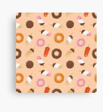 Ice cream and donuts 002 Canvas Print