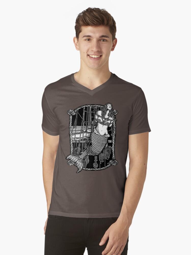 Bound Mermaid Mens V-Neck T-Shirt Front