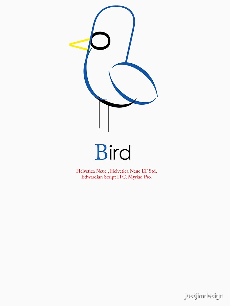 Bird Typograhy by justjimdesign