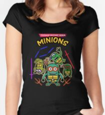 Ninja - Teenage Mutant Ninja Minions Women's Fitted Scoop T-Shirt