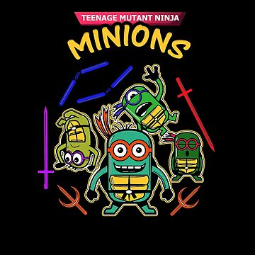 Ninja - Teenage Mutant Ninja Minions by dianewhitten