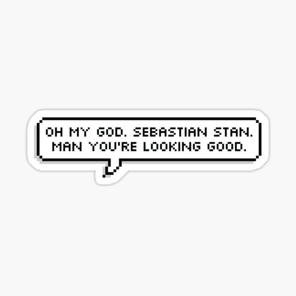 Sebastian Stan - Looking Good  Sticker