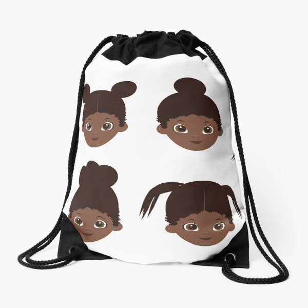 girl hairs Drawstring Bag