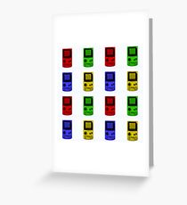 Gameboy Colour-Large Greeting Card