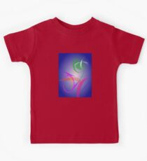 Green Flower Abstract Image Kids Tee