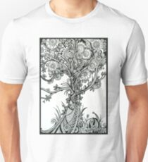 Elegance,  Ink Tree Drawing Unisex T-Shirt