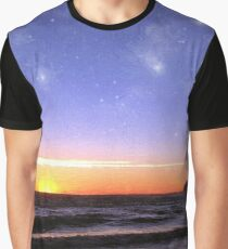 Star-Spangled Sunset Graphic T-Shirt