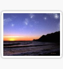 Star-Spangled Sunset Sticker