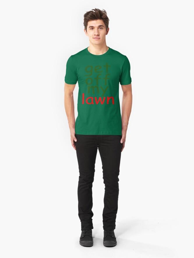 Alternate view of comic sans grandpa slogan Slim Fit T-Shirt