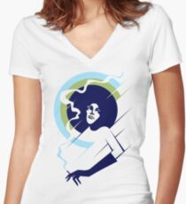 Retropolitan (cool) Women's Fitted V-Neck T-Shirt