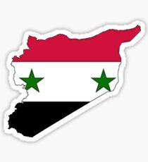 Syria Map With Syrian Flag Sticker