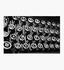Full QWERTY Keyboard  Photographic Print