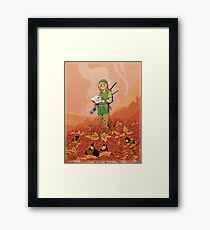 Deku Shrubs Framed Print