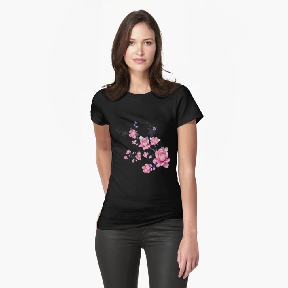 Cerezos en flor I Camiseta entallada