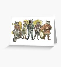 Steampunk Justice Revolution Clan Greeting Card