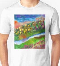 Whimsical Sunset by Roger Pickar, Goofy America T-Shirt