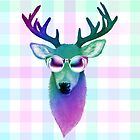 Rainbow Deer by Keelin  Small