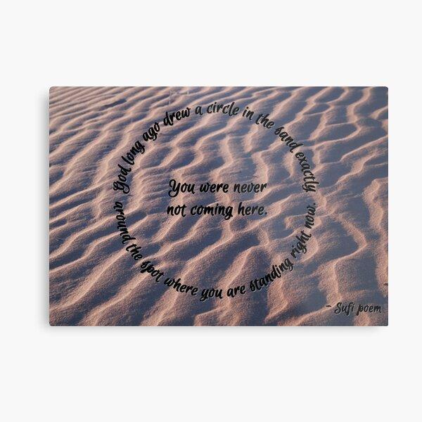 Circle in the sand Metal Print