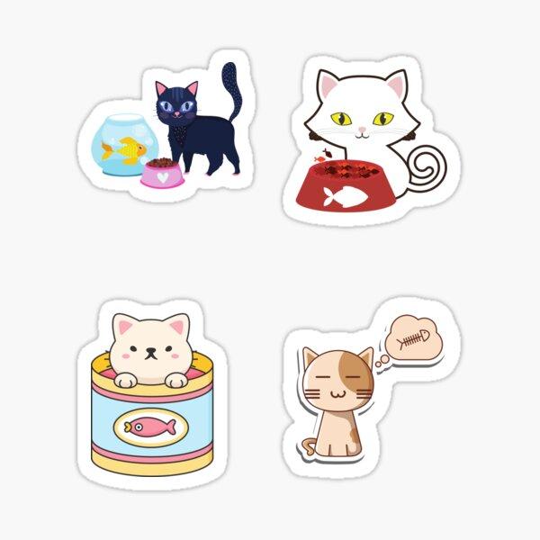 Cat Goes Fishing Sticker