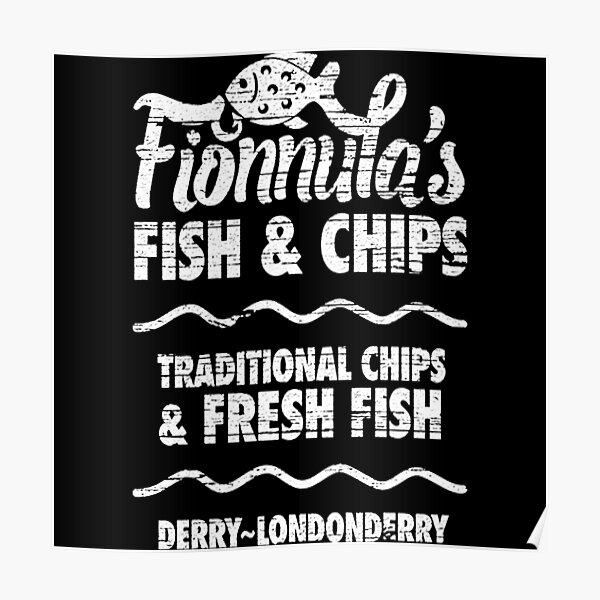Best Fish and Chips in Northern Ireland Poster