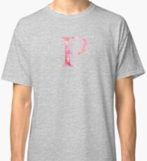 Pink Rho Watercolor Letter Classic T-Shirt