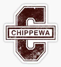 Old Chippewa Logo Sticker