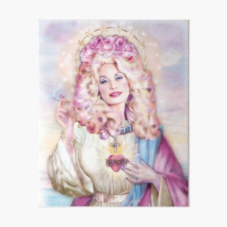 Purple Saint Dolly Art Board Print