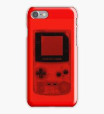 Gameboy Colour-Red iPhone Case/Skin