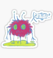 Peeing Space Furball Sticker