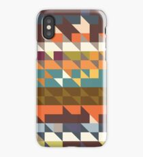 Shapes in retro colors iPhone Case