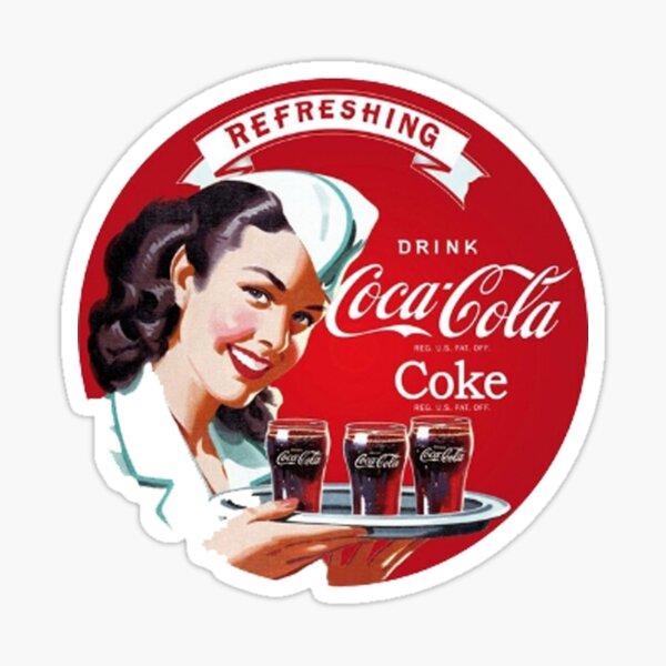 Bebida refrescante de Coca Cola Pegatina