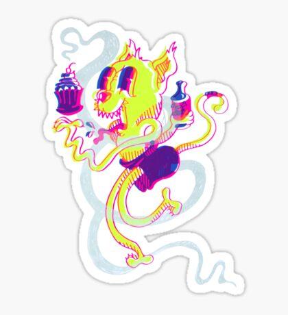 Crusty Cat Sticker