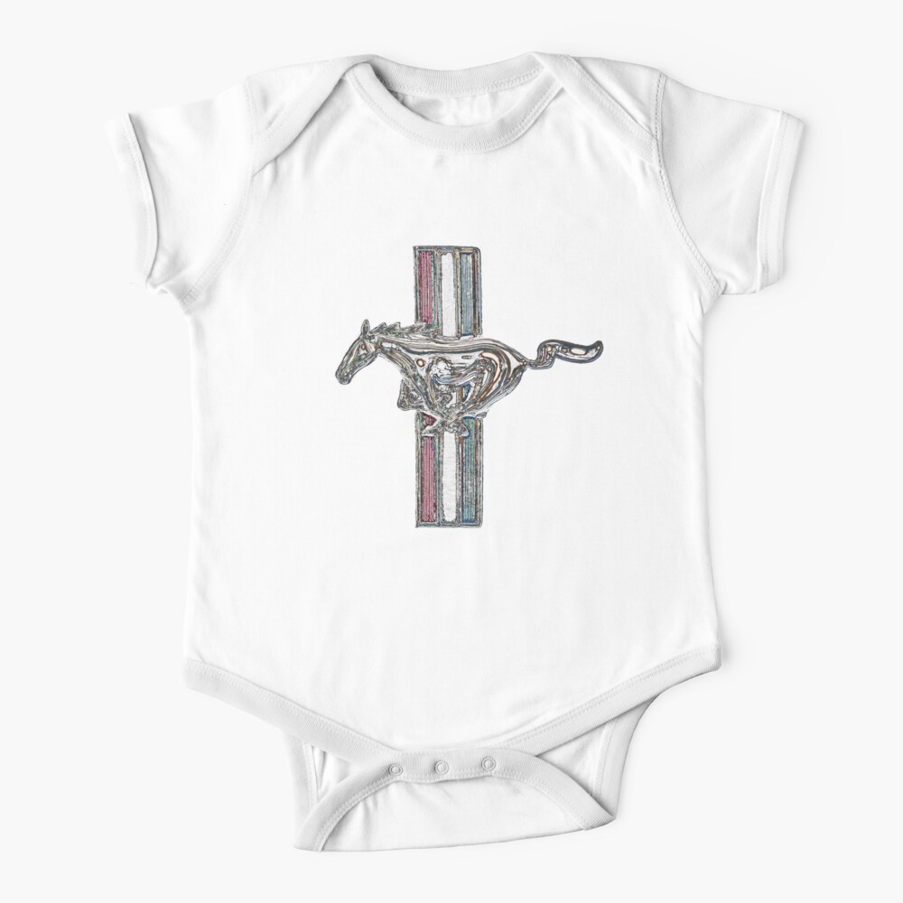 ford mustang, colored logo Baby One-Piece