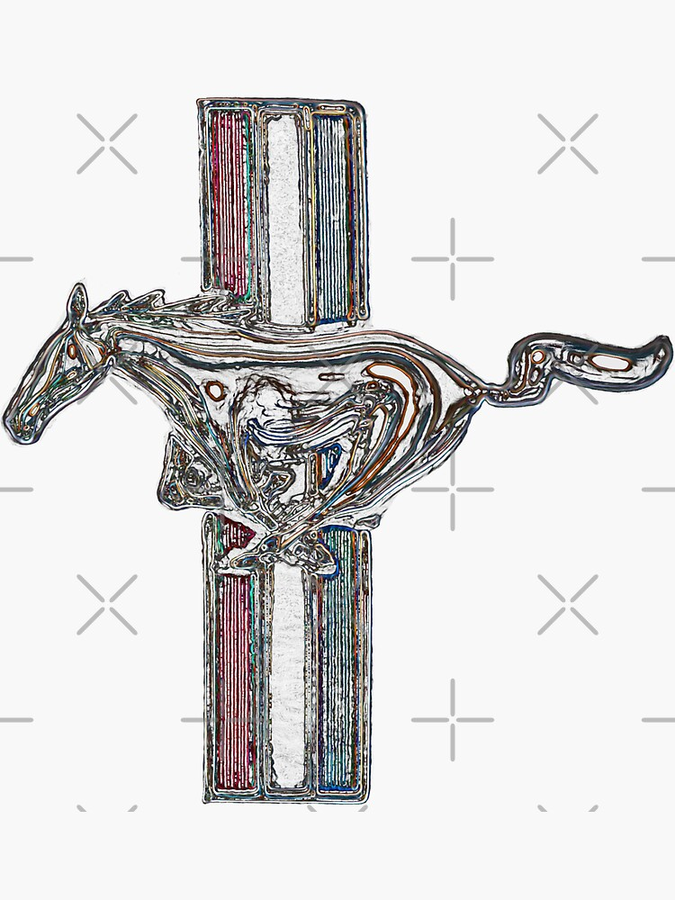 vado mustang, logo de color de hottehue