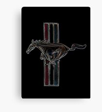 ford mustang, colored logo Canvas Print
