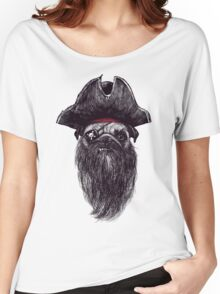 Capt. Blackbone the pugrate Women's Relaxed Fit T-Shirt