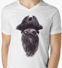 Capt. Blackbone the pugrate Men's V-Neck T-Shirt