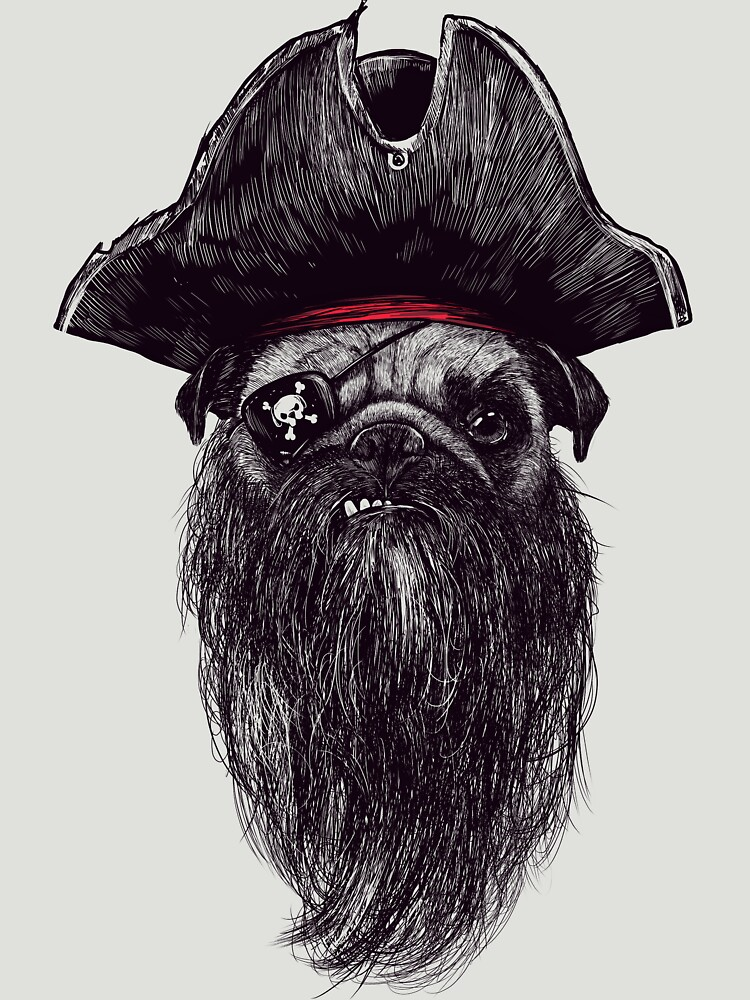 Capt. Blackbone the pugrate | Unisex T-Shirt