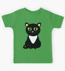 Only One Black and White Cat Kids Tee