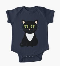 Only One Black and White Cat One Piece - Short Sleeve