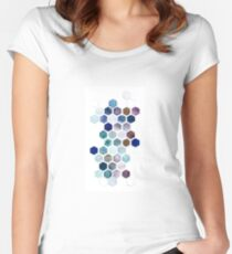 Geometric Hexagon Watercolors Women's Fitted Scoop T-Shirt