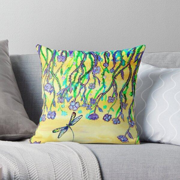 Flower Veil Throw Pillow