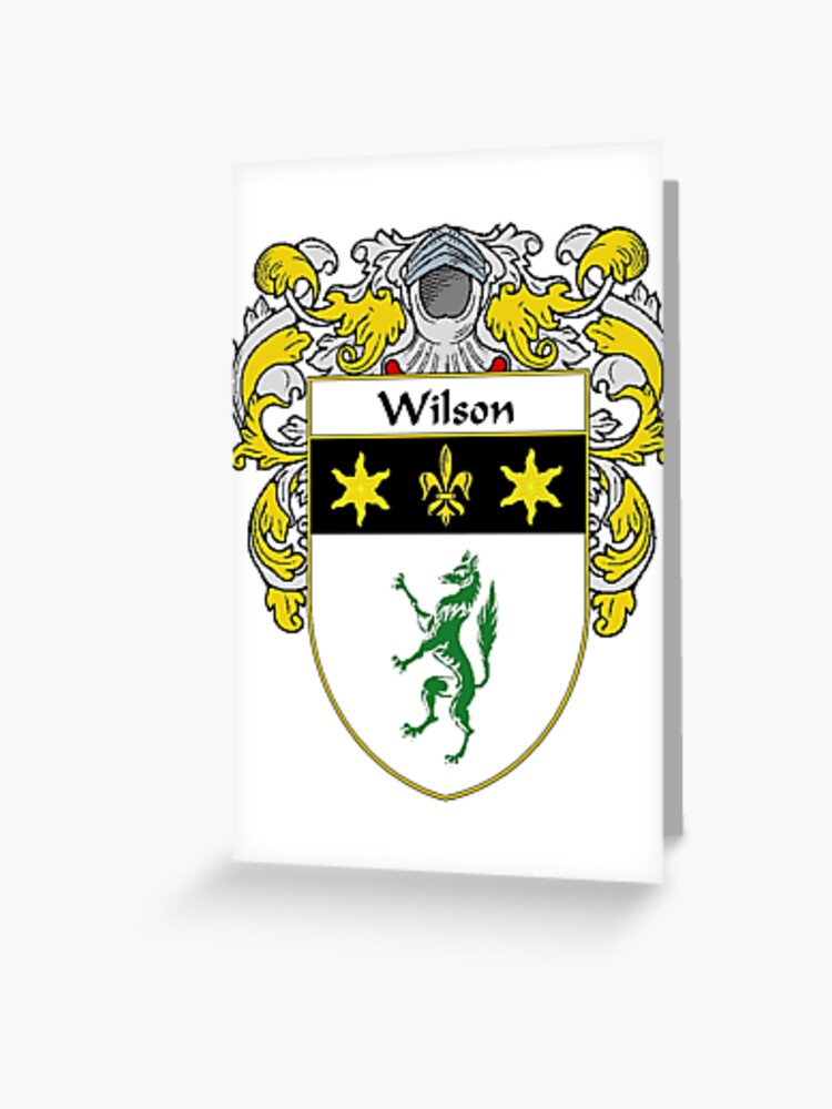Badge WILSON Family PATCH Heraldic Coat of Arms Crest Embroidered