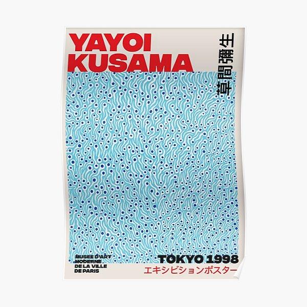 Yayoi Kusama azul Póster