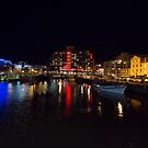 Victoria Dock at Night, Hobart, Tasmania by Chris Cobern